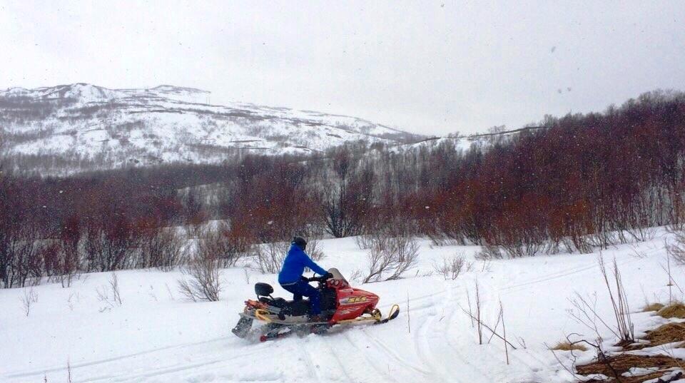 Snowmobile in Finnmark