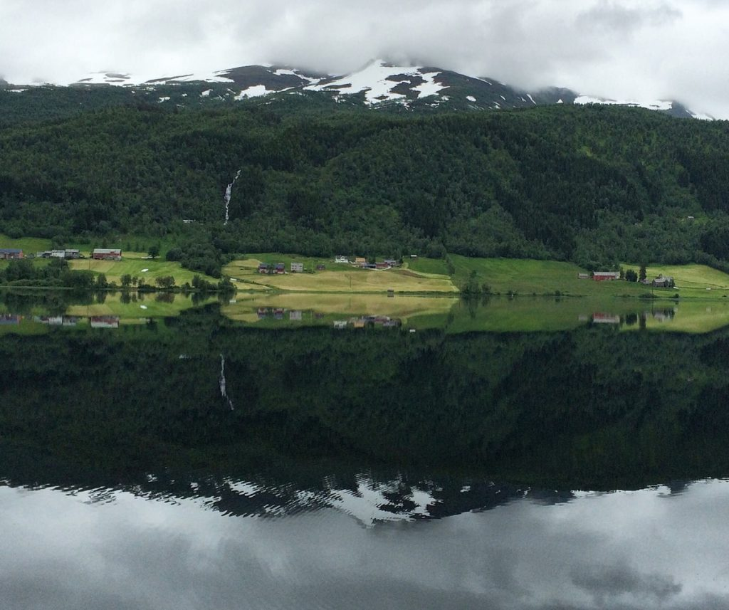 Reflections in a fjord