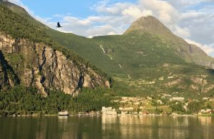 Cabins on the Geirangerfjord