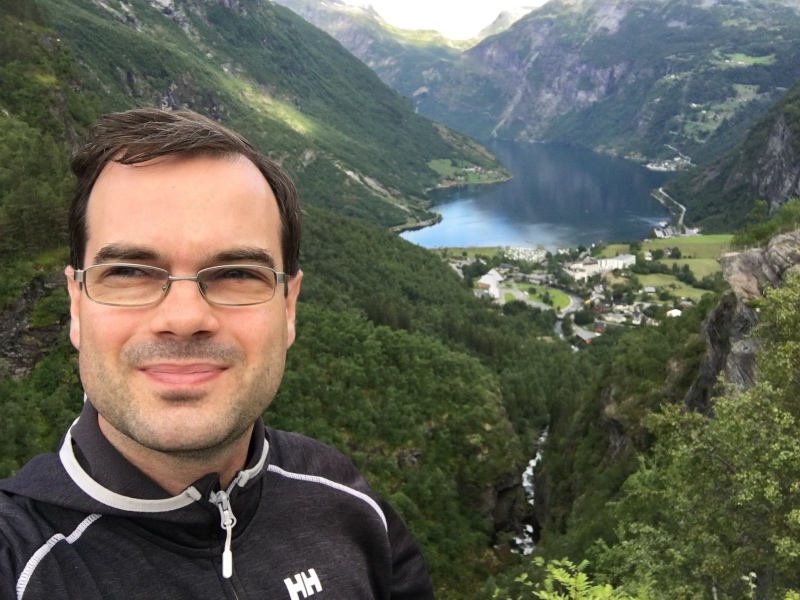 David on the Geirangerfjord