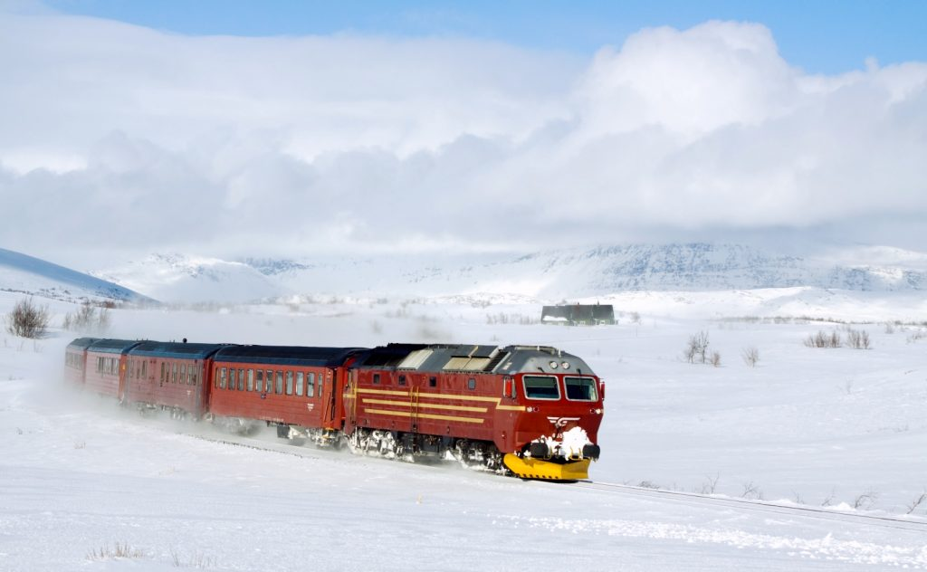 Snow on the Nordland line