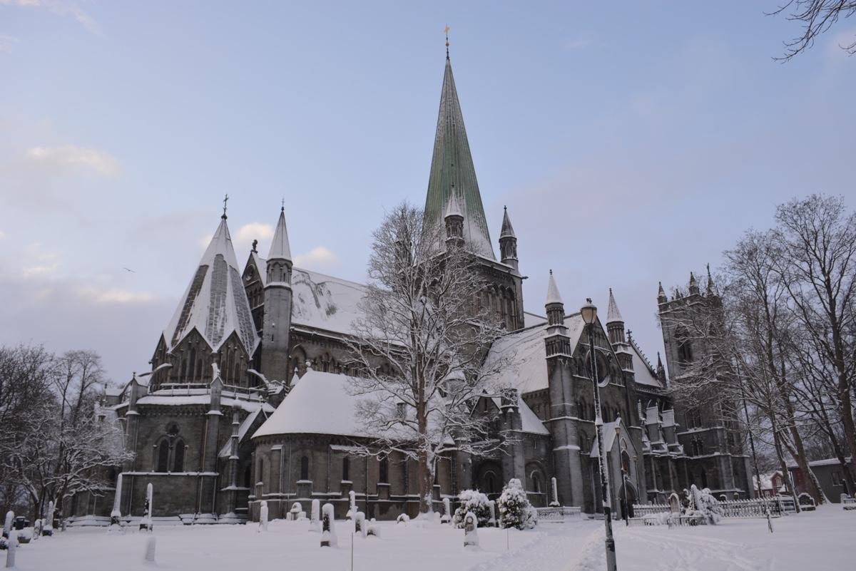 Winter in Trondheim, Norway