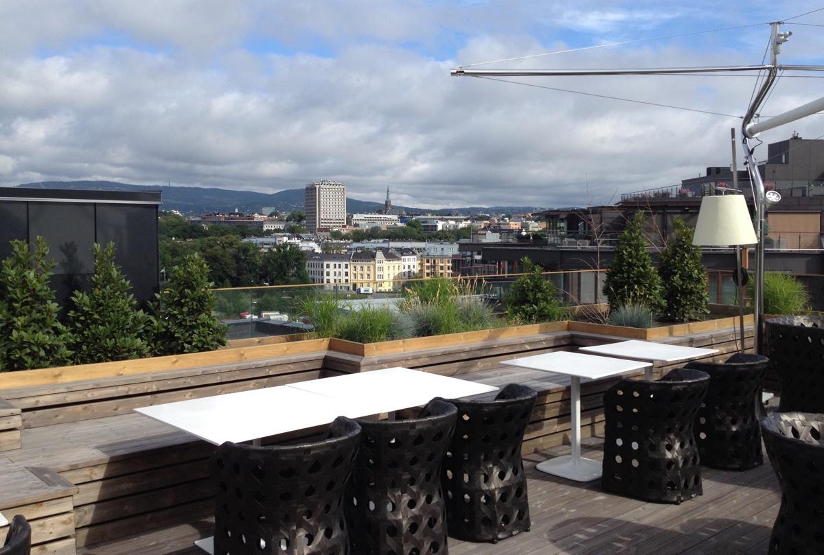 Tjuvholmen rooftop terrace