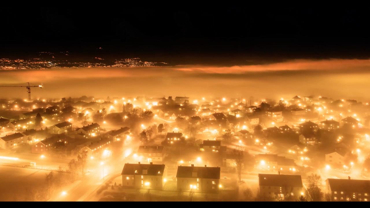 Magic Trondheim in fog