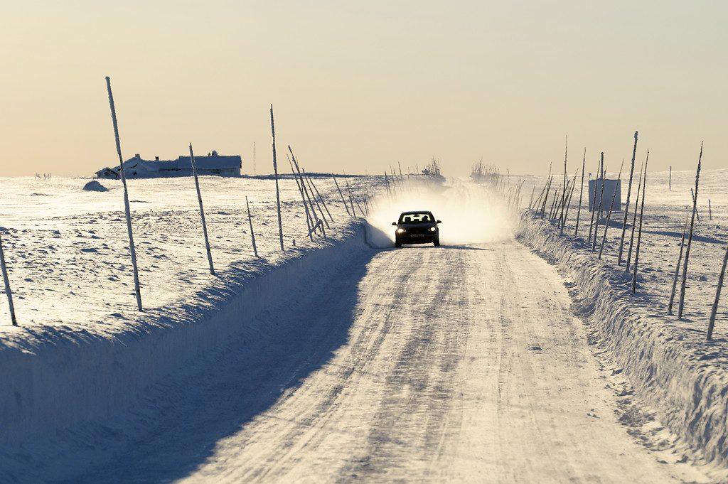 Valdres snow road