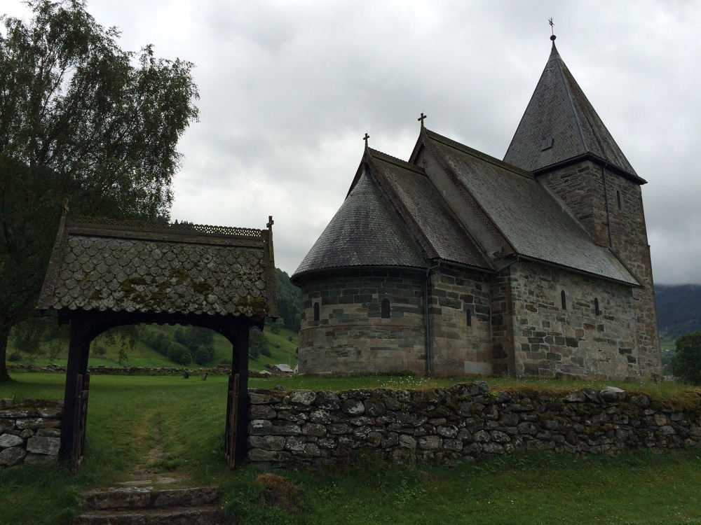 Stone church in Vik
